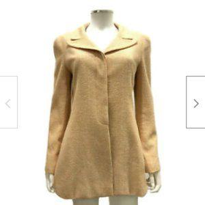 Chanel Orange Vintage Wool Blazer Jack size 8